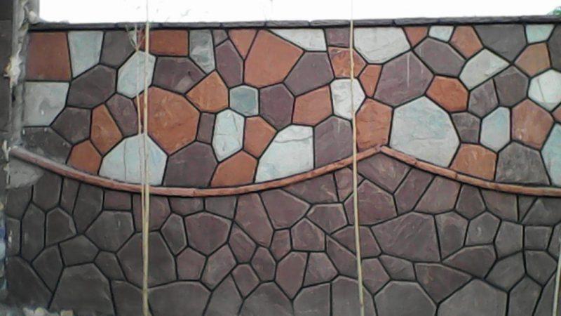 نمای سنگ لاشه ورقه ای دیوار
